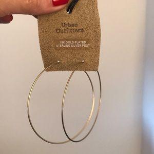 Urban Outfitters gold hoop earrings